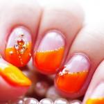ネオンカラーオレンジのジェルネイルをしてきた!