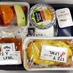 デルタ航空特別機内食低カロリー食(LFML)~ニューヨーク旅行記その1