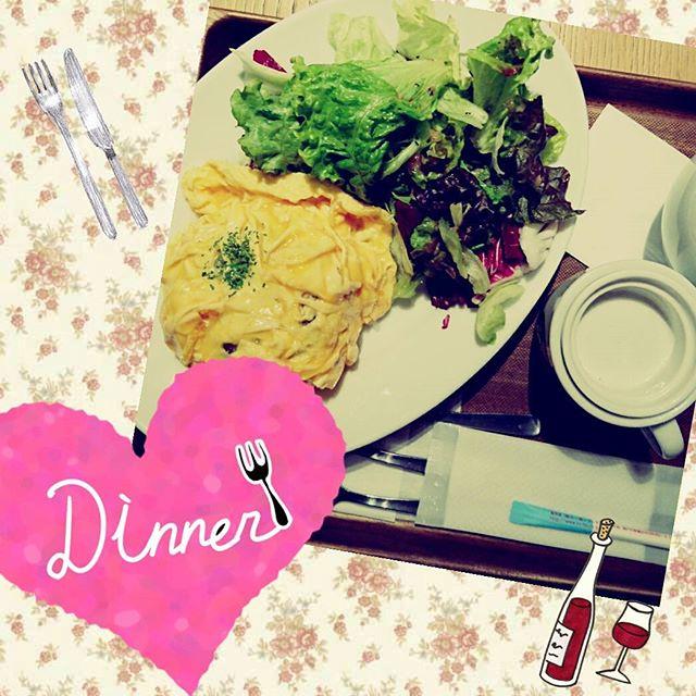 マザーリーフのオムドライカレーで夕食です♪ #motherleafteastyle
