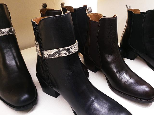 幅狭 革ブーツ