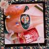 オランジーナプレミアム、買いました! イタリアではよくあるブラッドオレンジジュース! それからセーラームーンのチョコラBBも! #orangina #japanesedrink