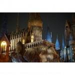 夜のUSJ、ハリポタエリア。イラストみたいだけど、写真です!#usj #ユニバーサルスタジオジャパン #ハリーポッター #ハリポタ #ハリポタエリア #お城 #夜景 #遊園地