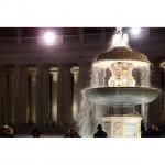 夜のヴァチカンの噴水。#ローマ #イタリア #ヴァチカン #italy #vatican #噴水 #旅行写真 #ヨーロッパ #夜景 #世界遺産